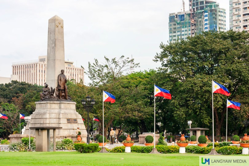 Rizal Monument as seen from the side