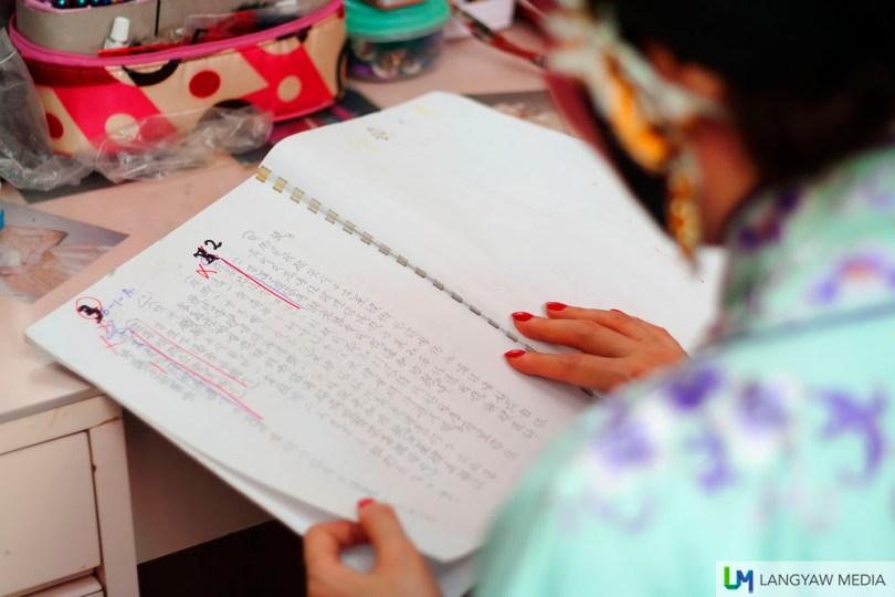 Reading through the script