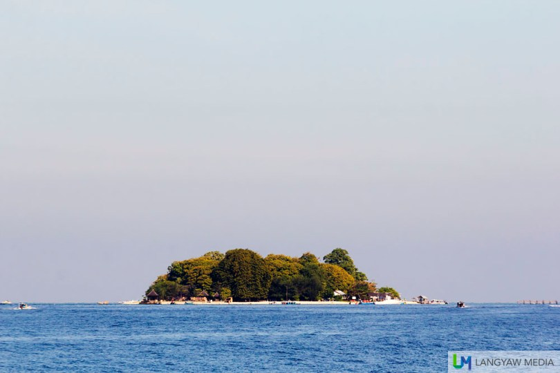 Pulau Samalona from a distance. It's a place where visitors can stay as well has have food and basic supplies