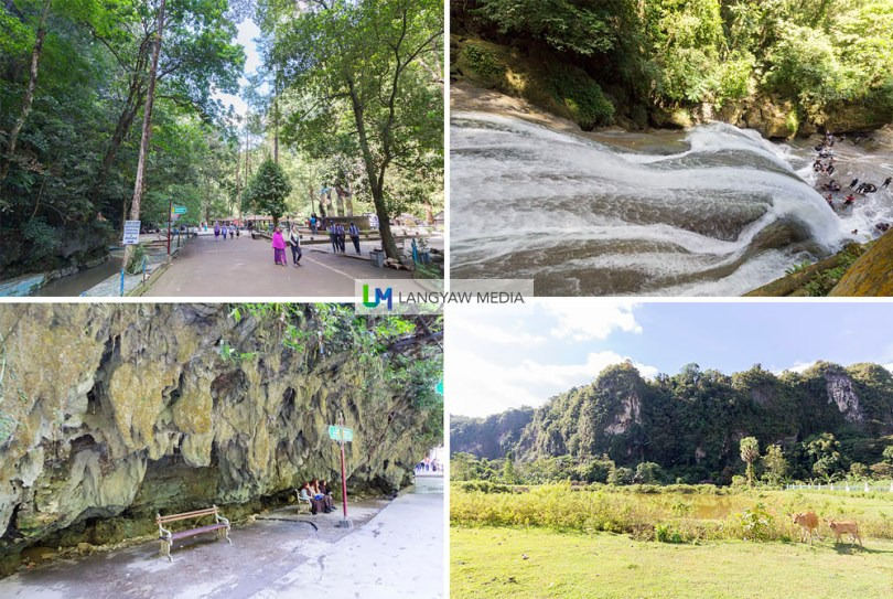 Some of the views of Bantimurung Bulusaraung National Park including the multilevel waterfall as seen from the side