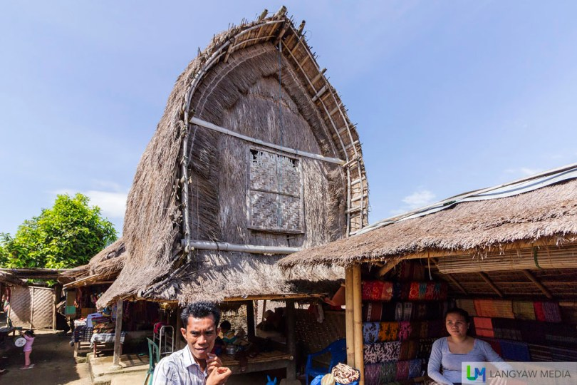 The lumbung, traditional vernacular architecture of the Sasak which is used as a granary