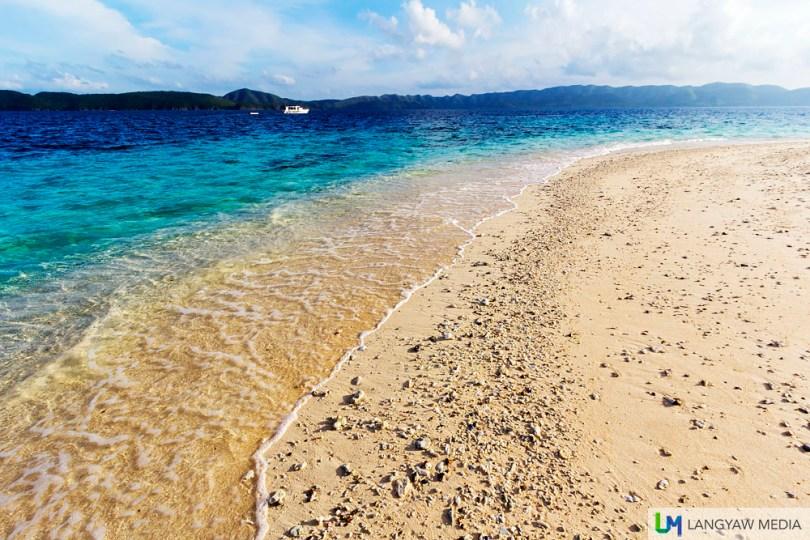 Stunning white sand beach