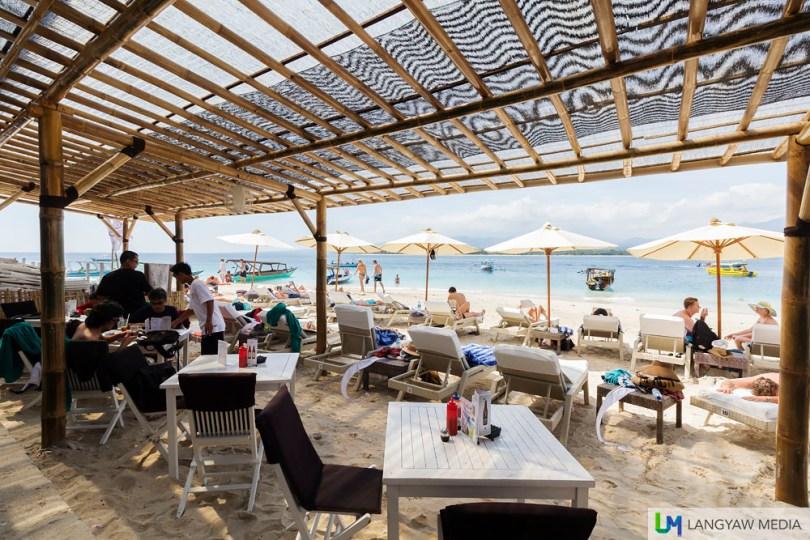 Scallywags Beach Resort in Gili Air where we had lunch