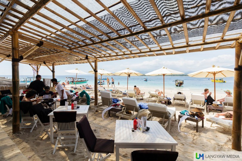 Scallywags Beach Resort in Gili Air where we had lunch
