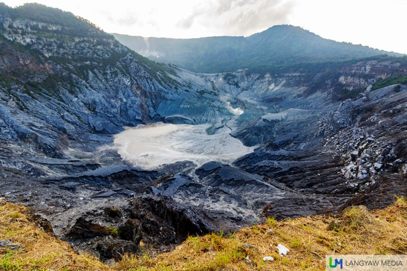 The crater of Tangkuban Perahu is another popular tourist spot that is accessible to vehicles and visitors