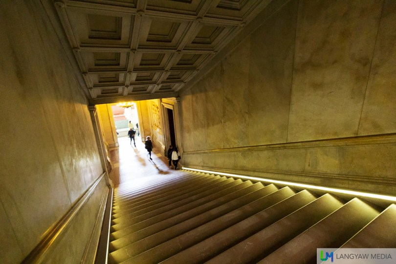 A flight of stairs to the underground