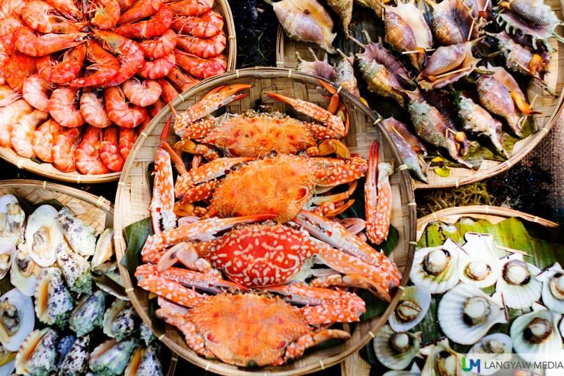 Maribago Bluewater Beach Resort themed dinner buffet in Mactan