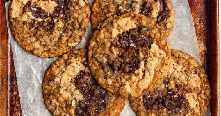 Malted Mocha Banana Oat Cookies