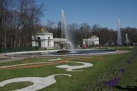 Fountain in one of the Peterhof Palace gardens