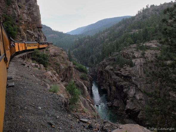 Snaking through the canyon