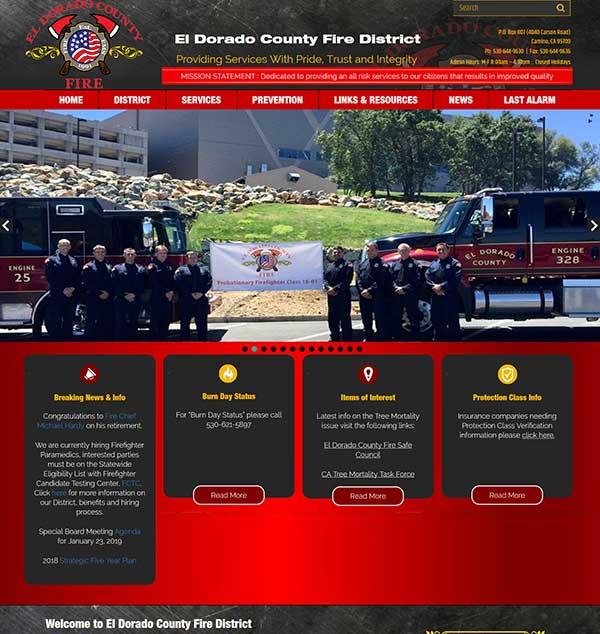 El Dorado Fire District Lanitech Web Design
