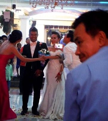 The happy bride & groom