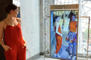 Magic Mirror technology used by department stores.