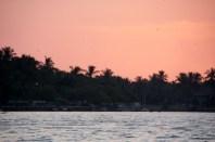 Sunset at Batticaloa lagoon