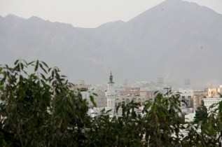 Rooftops and mountains, Muscat