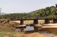 Bridge on the dusty road