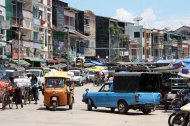Mawlamyine's bustling market street