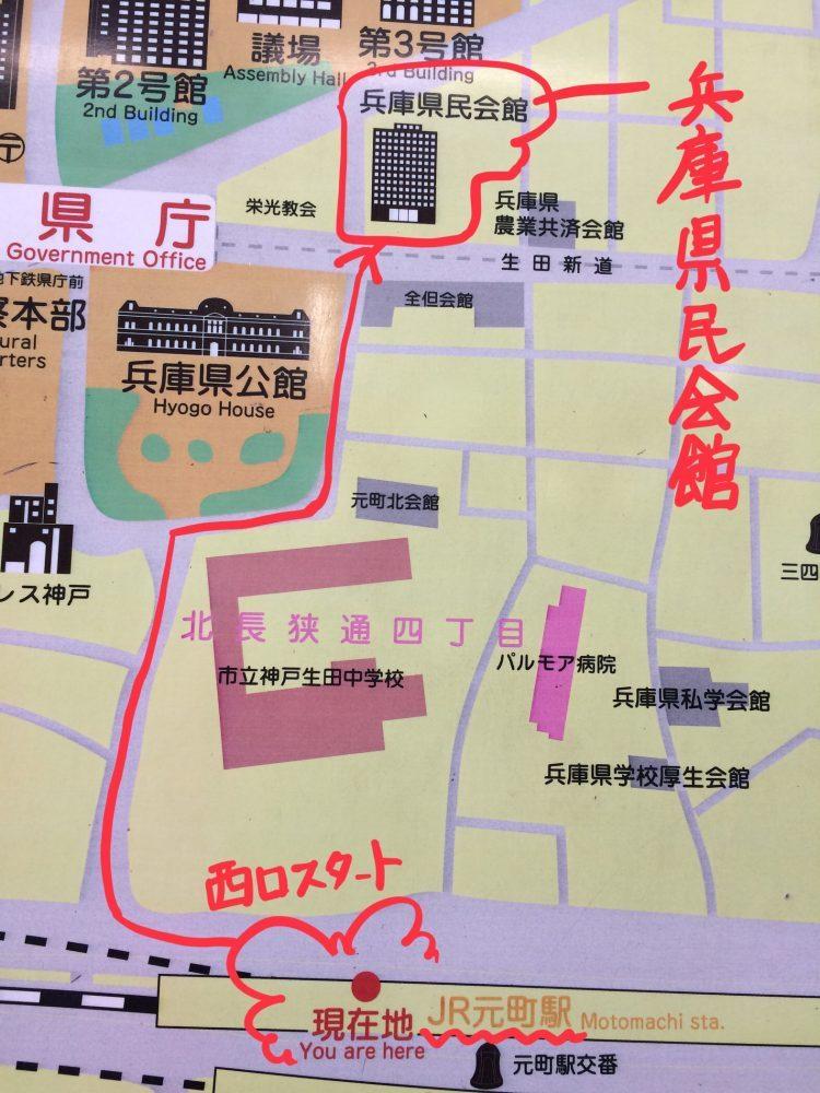 兵庫県民会館地図画像
