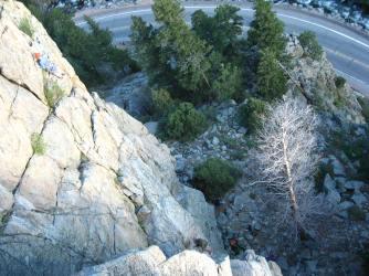 Climbing in Boulder Canyon Summer 2012 (Photo cred Dani P.)