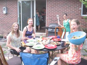 Late summer cook-out, Martin Acres, Boulder, Summer 2013