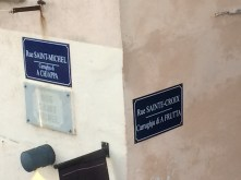 All street signs are in French and Corse