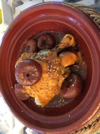 Fig chicken tagine
