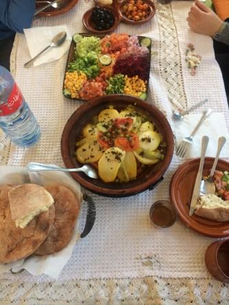 chicken veggie tagine plus salad and bread