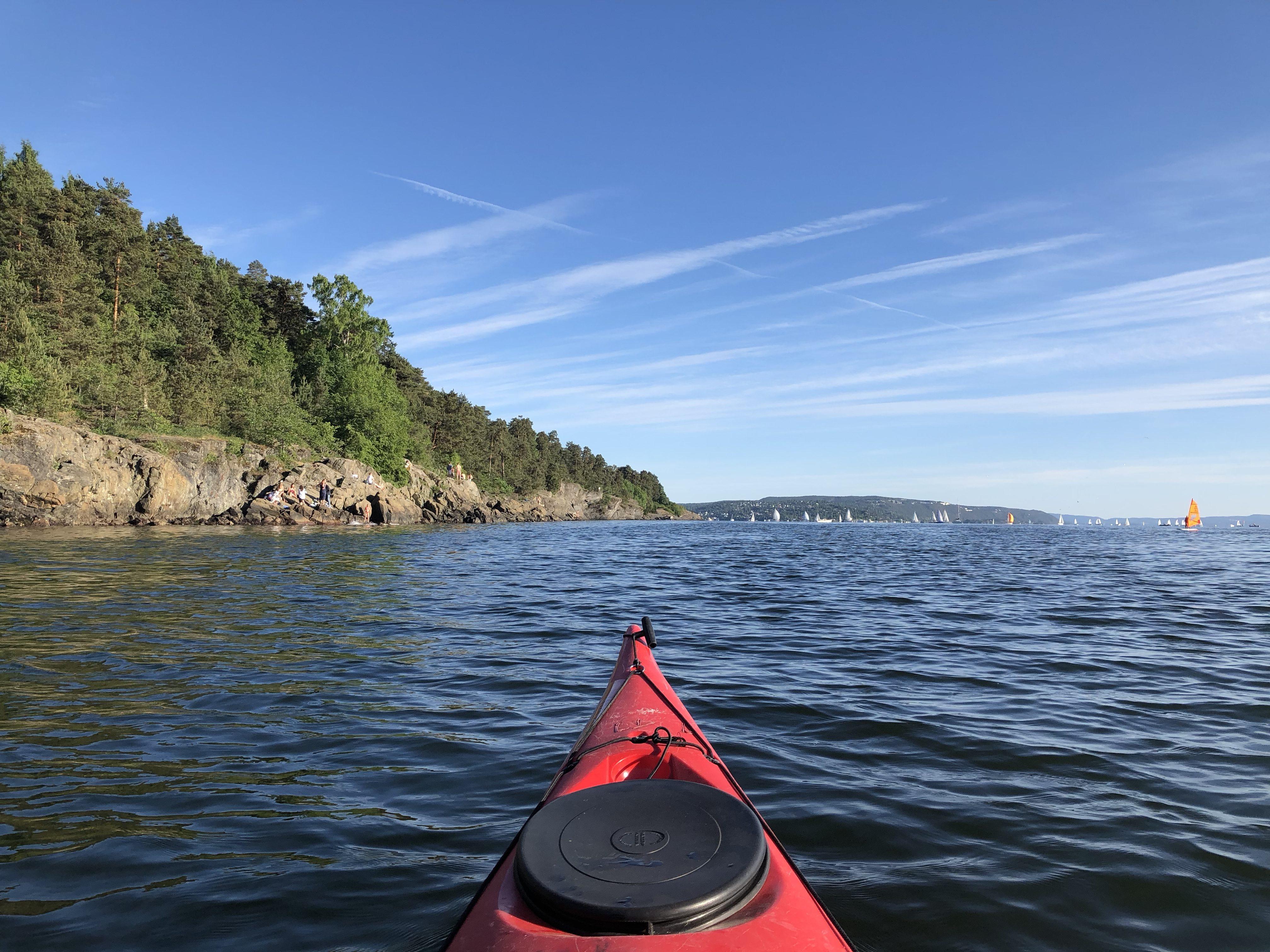 Kayak près de Bygdøy
