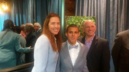 Raquel Regaldo, Bryan Fernandez y Michelle Alessandri.