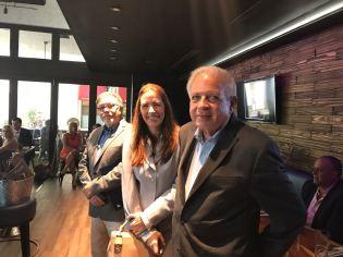El alcalde de Miami Tomas Regalado, Raquel Regalado y el alcalde de West Miami Eduardo H Muhina