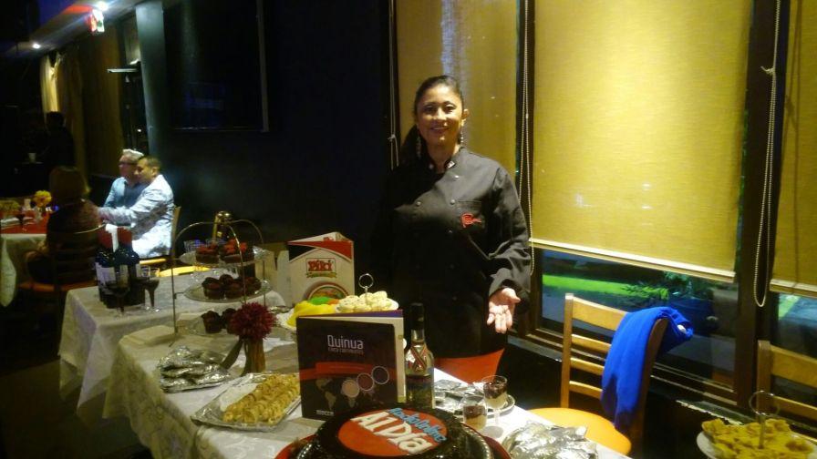 La chef Irina Hernandez Diaz ofrecio exquisitos pasabocas.