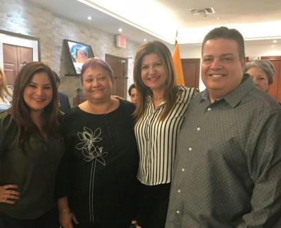 Rosana Cantillo, Ena Columbié, Marybel Torres y Armando Morales