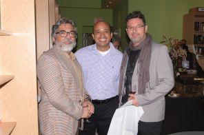 Anibal Anaya y sus amigos escritores Jaime Cabrera y Claudio Rynka