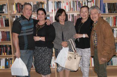 Odalys Interian y su esposo, Martica y Julio Garzón
