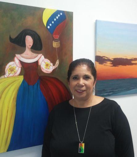 La artista venezolana Rosa Landáez