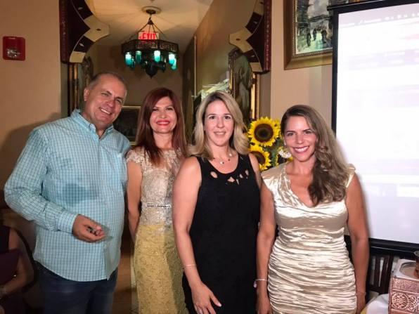 Jean Yacoub, gerente de Maroosh, Marybel Torres CEO de la Nota Latina, la abogado de la ciudad Miriam Soler Ramos, y Gina Tinoco conductora de La TinocoCina.