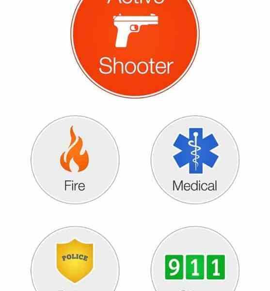 Foto de la aplicación del sistema de alerta de emergencias
