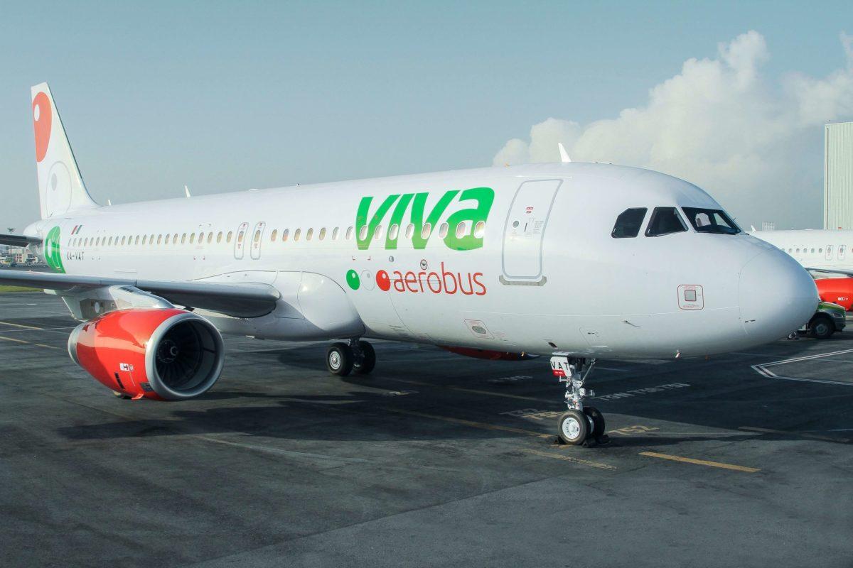 Foto de un avión de Viva Aerobus