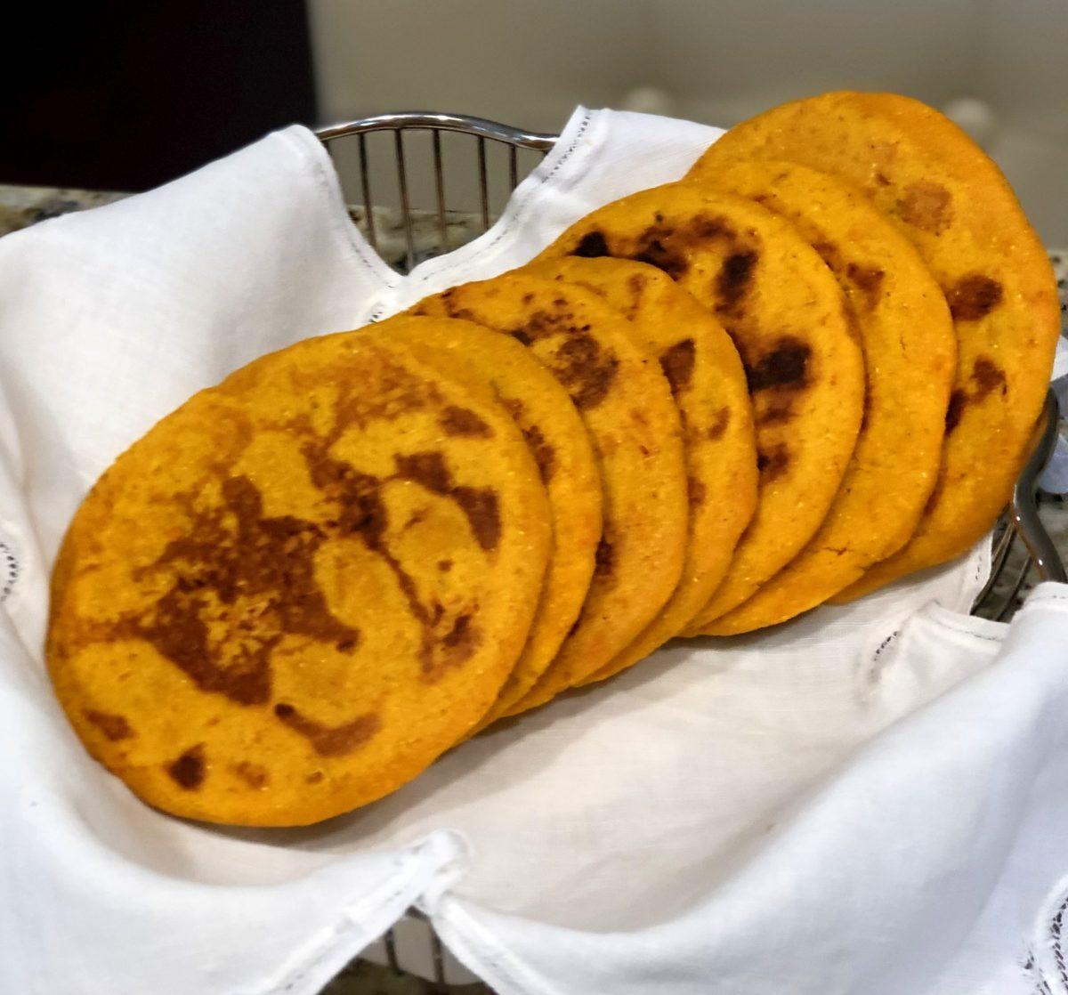 Arepa de batata y curcuma
