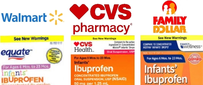 Muestras de retiro de ibuprofen