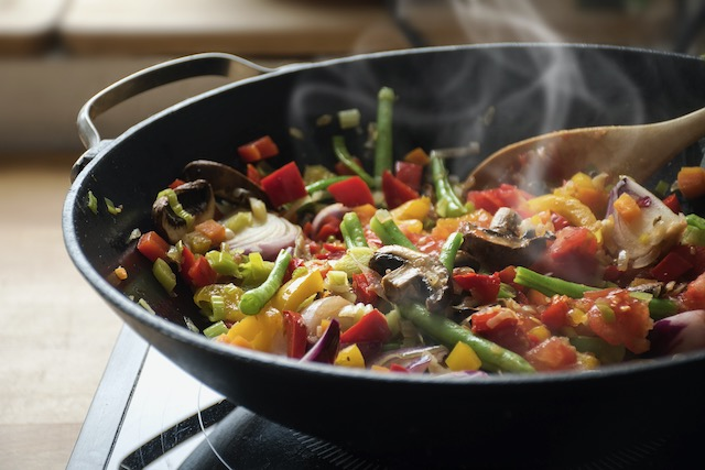 Vegetales salteados al estilo oriental