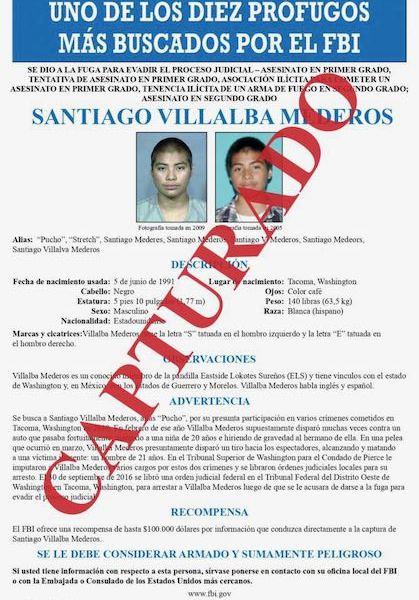 FBI capturó en México a uno de los 10 fugitivos más buscados