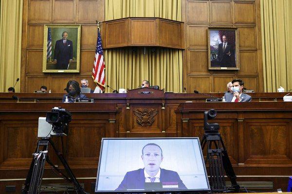 Directores de Facebook, Amazon, Google y Apple testifican ante el Congreso