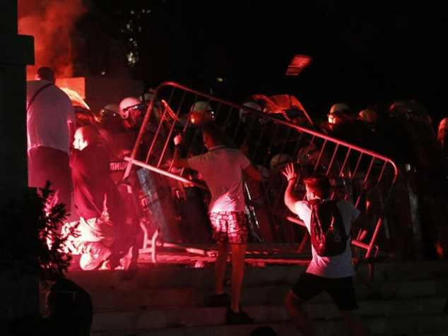 Manifestaciones en Serbia
