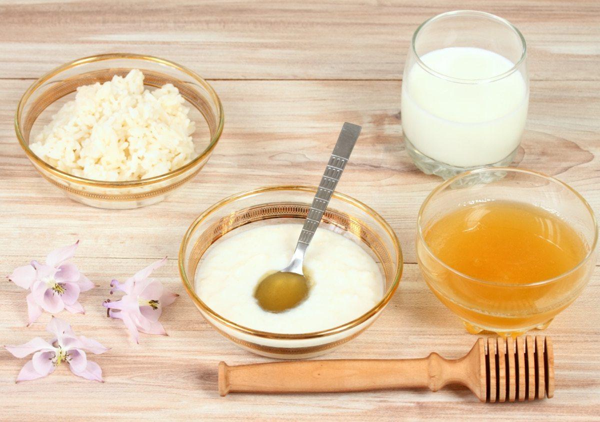 Mascarilla de arroz y miel