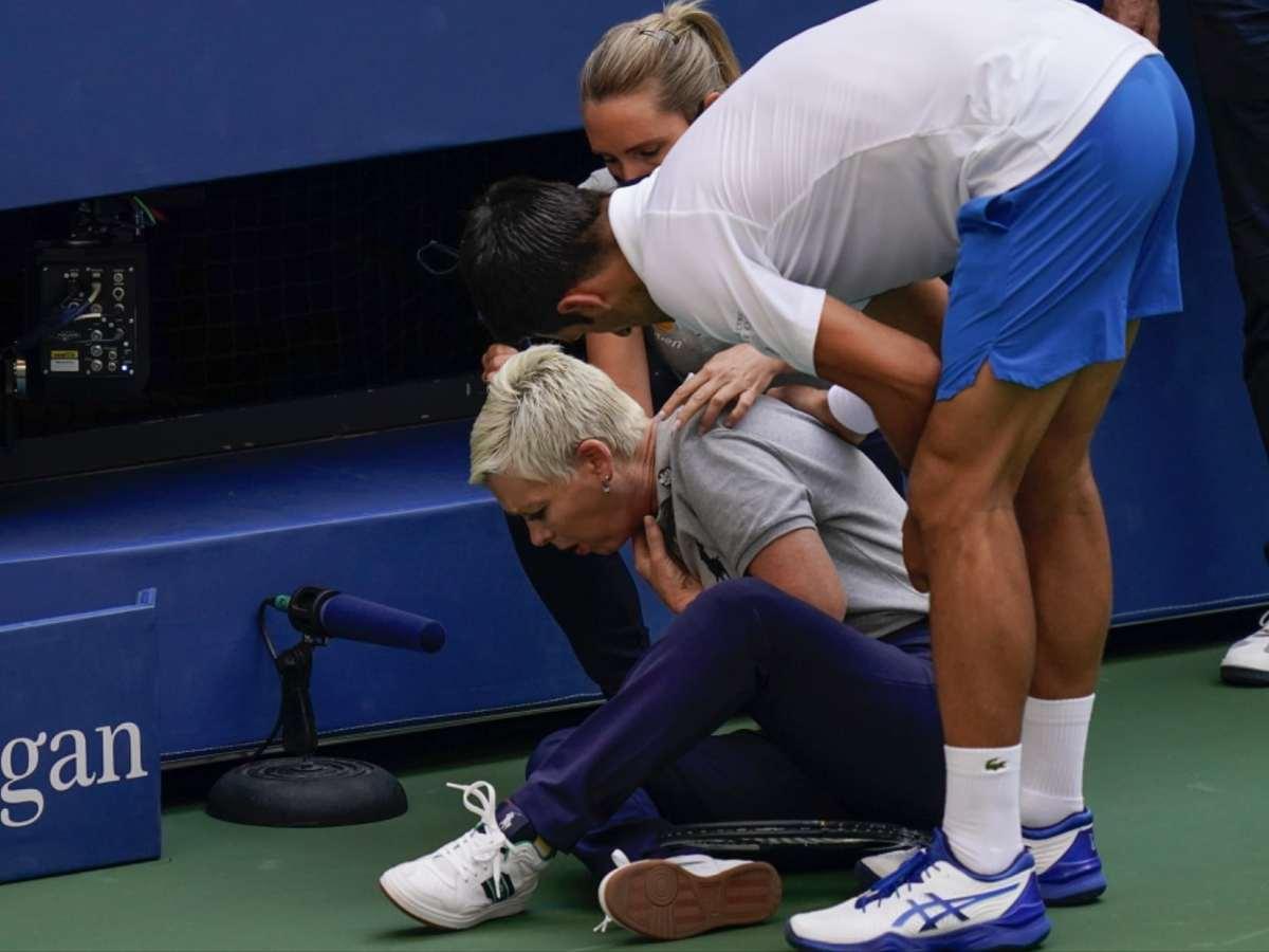 Djokovic US Open pelotazo a jueza