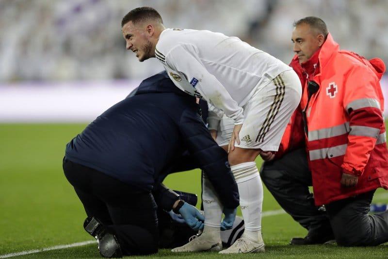 Eden Hazard volvió a lesionarse