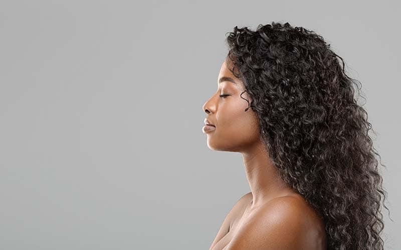 saludable cabello lavado