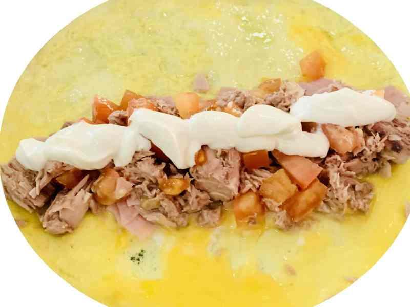 omelette con atun