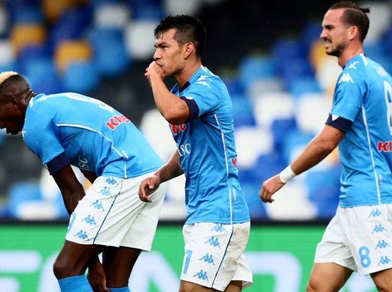 Hirving Lozano anotó doblete ante el Atalanta